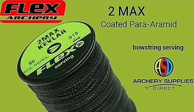 Flex Archery Bowstring Serving 2 Max Kevlar Dark Green 90 Metres approx