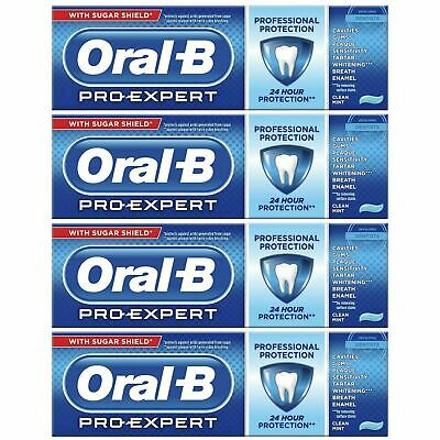 4 Oral-B Pro Expert Professional Protection Toothpaste Whitening Clean Mint 75ml