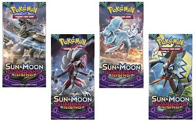 4 Pokemon Sun And Moon Guardians Rising Booster Packs