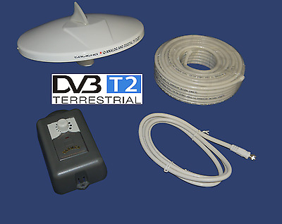 GLOMEX Talitha Digital TV DVB-T2 Antenne HD-TV Boot Yacht Caravan Marine Antenne