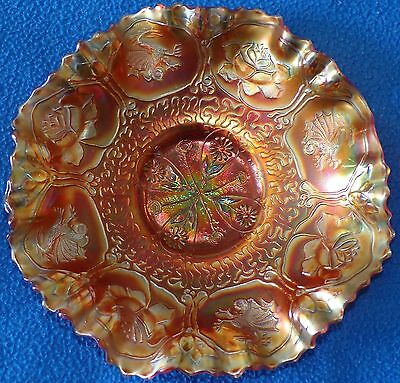 Carnival Glass Bowl, Dragon and Lotus Pattern
