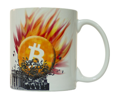 Bitcoin Smashes Federal Reserve 11oz. Coffee Mug