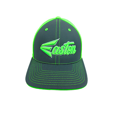 Easton Hat by Pacific 404M CHARCOAL/LIME/Script Youth (size 6 3/8 - 6 7/8), new
