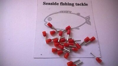 50 X Crimp Sleeves 1.00Mm Inner Dia Red Wire Trace/rigs For Pike, Sea Fishing
