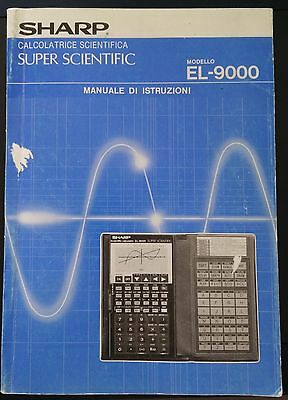 Manuale Sharp EL-9000