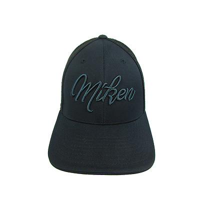 Miken Hat by Pacific 404M Blackout Script Youth (6 3/8- 6 7/8), new