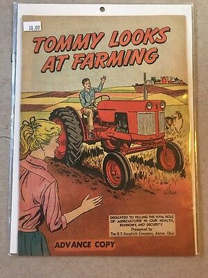 TOMMY LOOKS AT FARMING 1960 B.F. GOODRICH TIRE VERY RARE ADVANCE COPY!  Comic