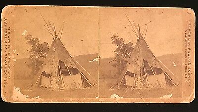 1870s ~ Crow NATIVE INDIAN GRAVE GRAVEYARD STEREOVIEW, F. Jay Haynes, Fargo D.T.