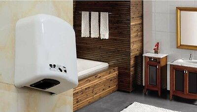 White Plastic Wall Mounted Automatic Induction Quick Drying Hand Dryer Machine