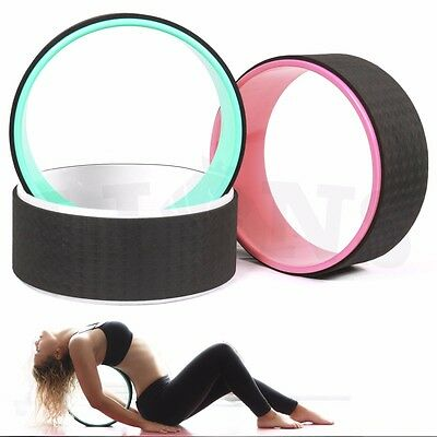 Fitness Yoga Wheel Ring Bend & Stretch Roller Flexibility Back Workout Pilates