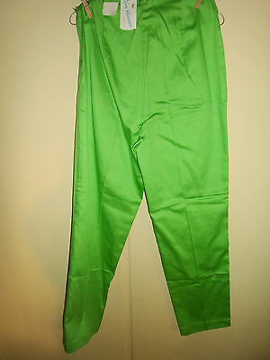 VINTAGE '60s JUNIOR'S LADY VANDERBILT GREEN SLACKS PANTS SIZE 11/12 100% COTTON