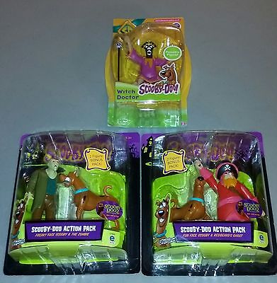 Hanna Barbara Scooby Doo Figures and Villains Pirate Zombie Witch Doctor