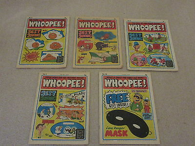 WHOOPEE COMICS x 5 No's 6, 7, 8, 9,10 very good condition/Beano, Whizzer & Chips