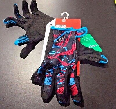 Specialized Lodown Mountain Bike Full Finger Cycling Gloves Zombie Blue Red XL