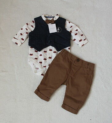 ***BNWT Next baby boy Fox occasion 4 piece set 0-3 months***