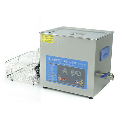 10 Liter Industry Ultra sonic Cleaner Ultrasonic Cleaner Tank Heated w/Timer 110