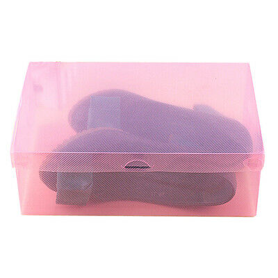 Durable Foldable Plastic Clear Shoes Storage Box Stackable Shoe Organizer Hot q