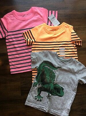 Lot Of 3 NWT Carter's Toddler Boys Short Sleeve Shirts 24 Months