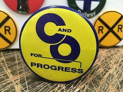 C AND O for PROGESS railroad RAILWAY full backed refrigerator MAGNET