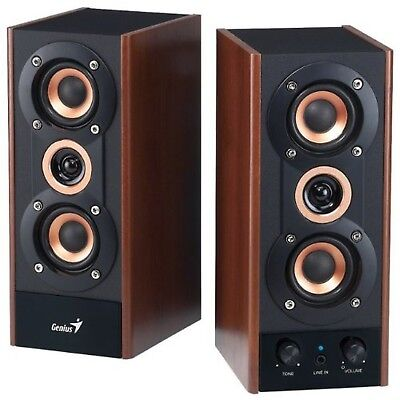 Genius 3-Way Hi-Fi Wood Speakers for PC MP3 players and Tablets (SP-HF800A)