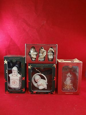 Lot of 4 Dept 56 Snowbabies Christmas Tree Ornaments *NEW*