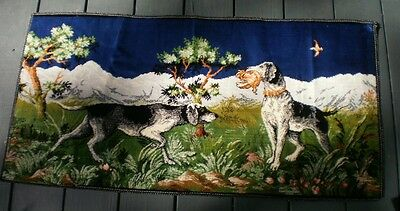 Italian Silk Style Hunting Dogs Tapestry Animal Bird Duck Forest Hounds Hunters