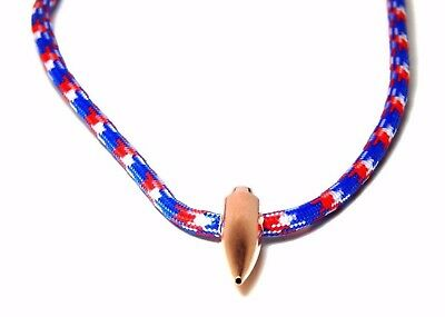 Sniper Hog Tooth Necklace Red White Blue Paracord With Break Away Barrel Clasp