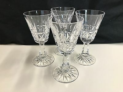 "Set of 4 ~ Waterford Crystal  ""ROSSLARE"" ~ White Wine Glass  ~ 5 1/2"" Tall"