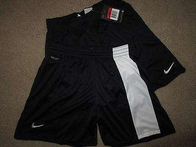 Lot 2 Youth Nike Dri-fit Soccer Shorts Black White Girls Boys Size L Large XL