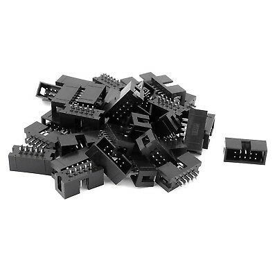 38 Pcs 2.54mm 2*5 10Pin Male IDC Socket Box Header Straight Connector NEW