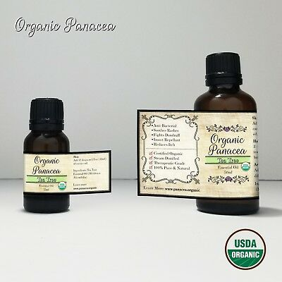 100% PURE Tea Tree Essential Oil | CERTIFIED ORGANIC | STEAM DISTILLED |