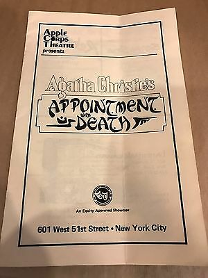 "Program Apple Corps Theatre Agatha Christie's "" Appointment With Death"" 1950?"