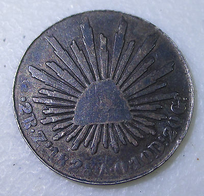 1828 Mexico 2 Reales Silver Foreign Coin - Lot P14