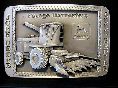 John Deere Australia 6910 6000 Series Forage Harvester Belt Buckle 1996 Training