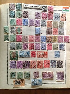 India Inde Anglaise Lot de timbres anciens oblitere / collection / stamp / used