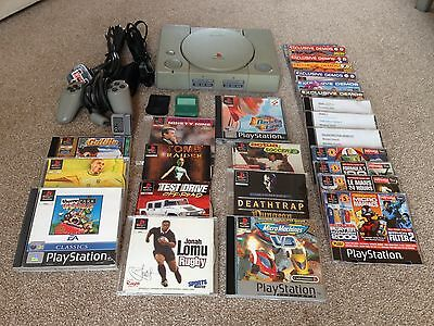 Sony Playstation One Bundle PS1 Controller, Leads, 11 Games and 14 Demo Discs