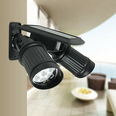14Led Solar Pir Motion Sensor Spot Light Pathway Garden Outdoor Security Lamp