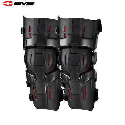 EVS RS9 PRO Pair of Knee Braces Adult Black/Red Motocross Body Armour MX