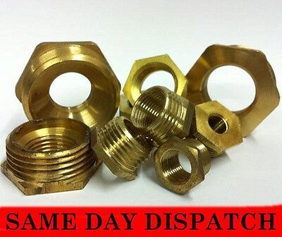 Brass Reducing Hexagonal Bush Male To Female Bsp Various Sizes *free Delivery*