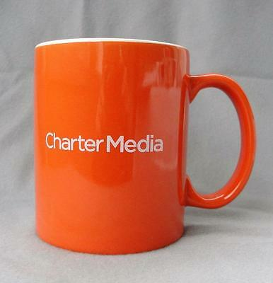 Charter Media and Charter Business Orange and White Coffee Mug Cup 10 ounce CM19