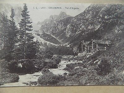 Vintage Old Posted Postcard 1923 Champex Val d'Arpette Switzerland Mountains  b
