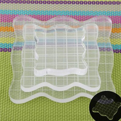 Clear Block Essential Tools Transparent Stamp Scale Acrylic Pad Scrapbooking
