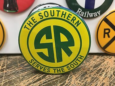 """THE SOUTHERN RAILROAD """"serves the south"""" RAILWAY full backed refrigerator MAGNET"""