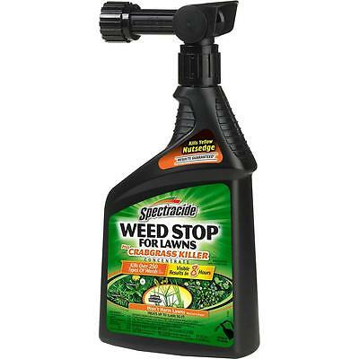 Spectracide Weed Stop 32 oz. Ready-to-Spray Concentrate for Lawns Plus Crabgrass