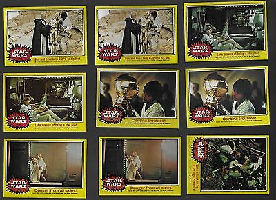 Topps Star Wars Trading Cards 1977 Set 3 Lot of 87