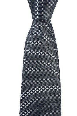New BRIONI Italy Charcoal Geometric 100% Silk Handmade Neck Tie NWT $230!