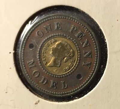 Great Britain Model Penny With Brass Insert Holed