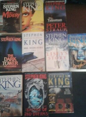 Lot of 10 Stephen King Books S5