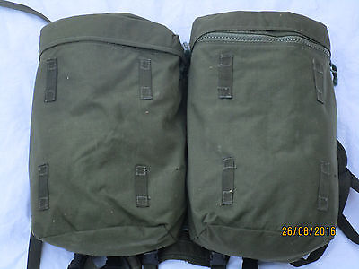 Webbing 90 Side Pouches & Yoke olive,PLCE Daypack,Side pockets, well preserved