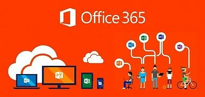 Microsoft Office 365 2016 5 Devices works on Mac & Windows (Lasts Forever)